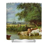 A Midsummer's Day On The Thames  Shower Curtain