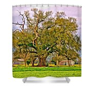 A Mighty Oak - Paint Shower Curtain