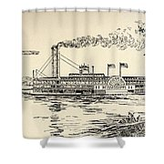 A Mississippi Steamer Off St Louis From American Notes By Charles Dickens  Shower Curtain by EH Fitchew