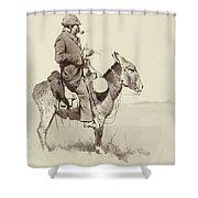 A Modern Sancho Panza Shower Curtain by Frederic Remington