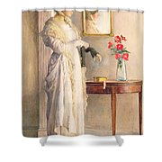 A Moment's Reflection Shower Curtain