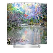 A Monet Autumn Shower Curtain