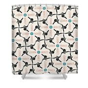 A Monkey Design Shower Curtain