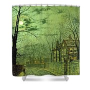 A Moonlit Road Shower Curtain