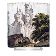 A Mosque At Gazipoor Shower Curtain by William Hodges