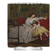 A Mother And Her Young Daughter Shower Curtain