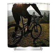 A Mountain Biker Makes His Final Shower Curtain