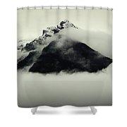 A Mountain Scene Shower Curtain