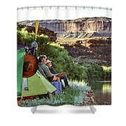 A Multi-generational Family Of Boaters Shower Curtain