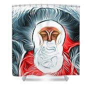 A Nap Till Xtmas Shower Curtain