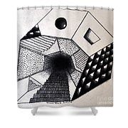 A New Dimension Shower Curtain