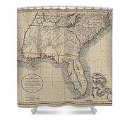 A New Map Of Part Of The United States Of North America Shower Curtain