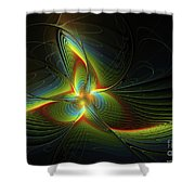 A New Star Is Born Shower Curtain by Deborah Benoit