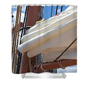 A Nice Pile Of Sail Shower Curtain