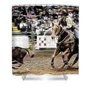 A Night At The Rodeo V12 Shower Curtain