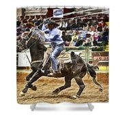 A Night At The Rodeo V19 Shower Curtain