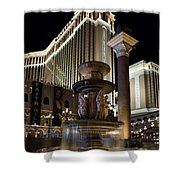 A Night At The Venetian Las Vegas Shower Curtain
