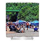 A Norcal River Beach Shower Curtain