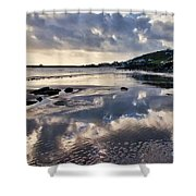 A November Afternoon At Lyme Regis Shower Curtain