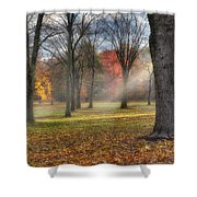 A November Morning Square Shower Curtain