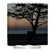 A November Sunset Shower Curtain