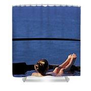 A Nude Woman In A Hot Spring Shower Curtain