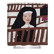 A Nun In Prayer Shower Curtain