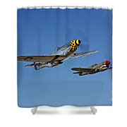 A P-51d Mustang Kimberly Kaye Shower Curtain