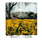 A Painting Jefferson Memorial Dali-style Shower Curtain