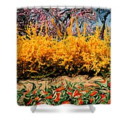 A Painting Springtime 2 Dali-style Shower Curtain