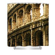 A Painting The Colosseum Shower Curtain