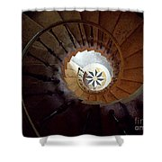 A Painting Villa Vizcaya Spiral Staircase Shower Curtain