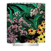 A Painting Wild Flowers Dali-style Shower Curtain
