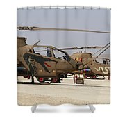 A Pair Of Ah-1s Tzefa Attack Shower Curtain