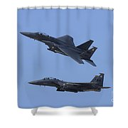 A Pair Of F-15c Eagle Aircraft Perform Shower Curtain