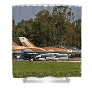 A Pair Of F-16c Barak Of The Israeli Shower Curtain