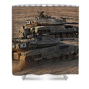A Pair Of Israel Defense Force Merkava Shower Curtain