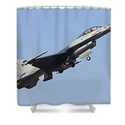 A Pakistan Air Force F-16a Block 15 Shower Curtain