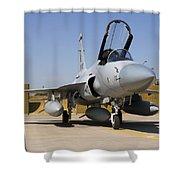 A Pakistan Air Force Jf-17 Thunder Shower Curtain