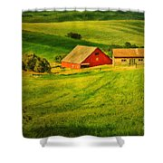 A Palouse Farm Shower Curtain