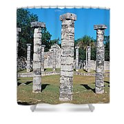 A Panoramic View Of Columns Surround Shower Curtain