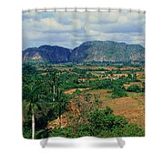 A Panoramic View Of The Valle De Shower Curtain