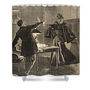 A Parisien Drama, Illustration From Le Shower Curtain