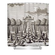 A Parterre With Orange Trees In The Garden Of The Lichtenstein Palace Shower Curtain