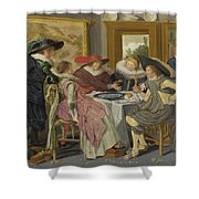 A Party At Table Shower Curtain