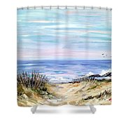 Where The Waves Are Shower Curtain