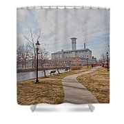 A Path To The Factory Shower Curtain