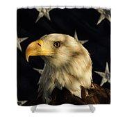 A Patriot Shower Curtain