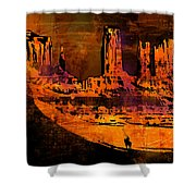 A Pause In Monument Park Shower Curtain