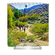 A Pause On Lower Palm Canyon Trail In Indian Canyons Near Palm Springs-california Shower Curtain